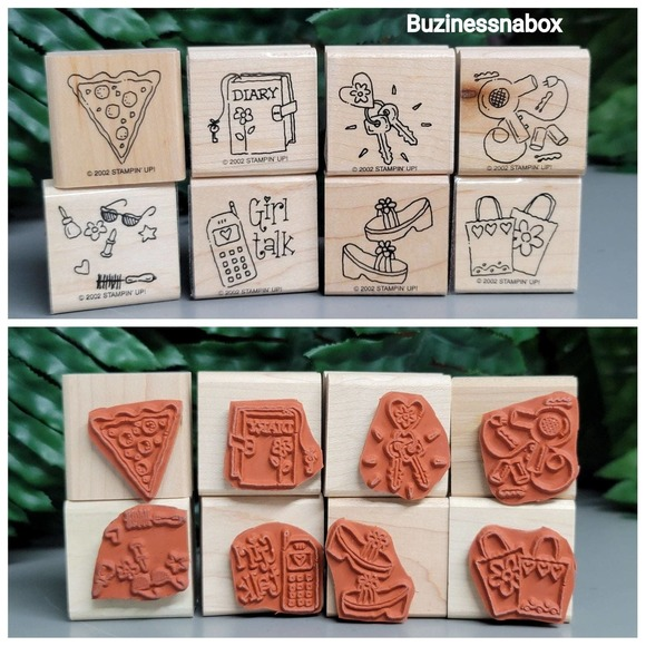 2002 Stampin Up Girls Rubber Stamps